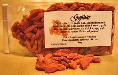 Goji anses vara en av världens mest näringsrika bär