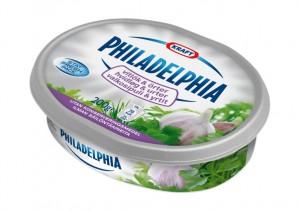 Philadelphias finns i olika smaker bland annat naturell, yoghurt, vitlök & örter