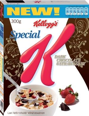 Special K Dark Chocolate Strawberry mörk choklad och jordgubbar