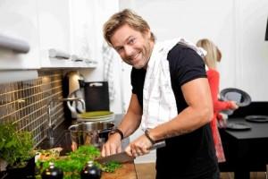 Niclas Wahlgren bjuder nära och kära på Quorn