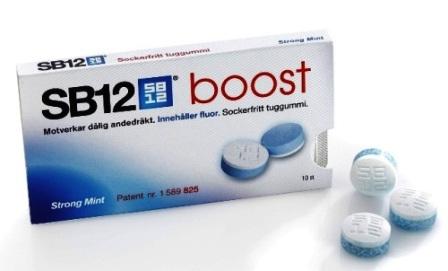 SB12 boost första tuggummit som förhindrar dålig andedräkt