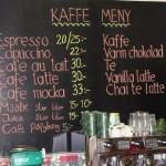 Kaffe meny