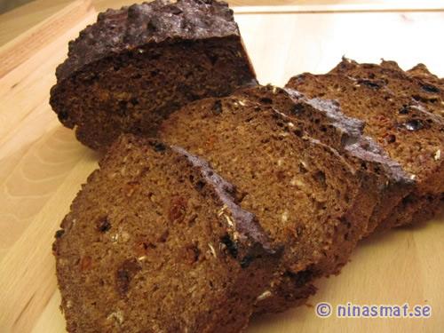 Gojibärs bröd mörkt bröd som innehåller goji