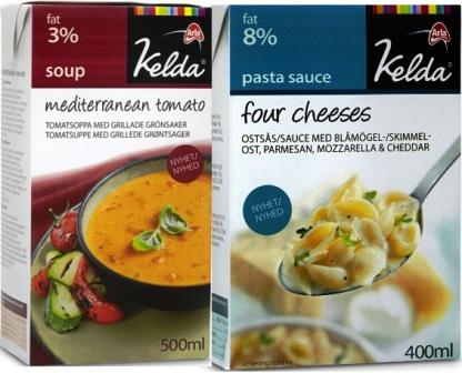 Kelda lanserar Four Cheeses och Mediterranean Tomat