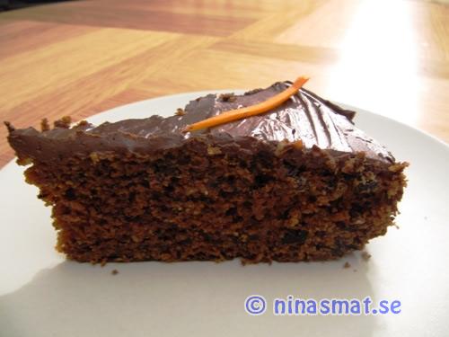 Morotskaka med choklad