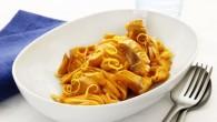 En härlig pastarätt med tomat och fisk.