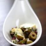 Ädelostkompott med oliver