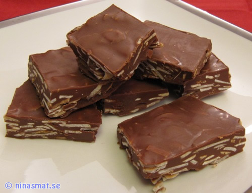 Wienernougat med mörkare choklad fylligare smak