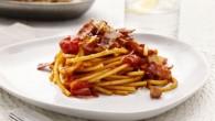 Recept på pasta rätt, där Pancettan och Pecorinoosten ger en god sälta i pastarätten.