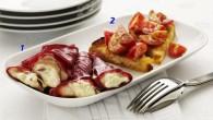 Italiensk vegetarisk förrätt med pesto och lantbröd