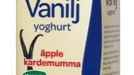 Njut av den goda yoghurten med len, fyllig smak av äpple och kardemumma.