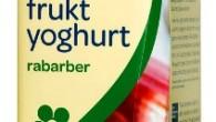 Fruktig laktosfri yoghurt med smak av rabarber