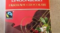 Ny fairtrade mörk choklad med lingonbitar i