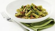 Fusilli med broccoli, kyckling och sidfläsk, en god och fräsch pastarätt full med c-vitaminer