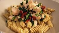 Kyckling pastarätt med smaker av Italien