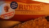 Vi har fått testa Runes energikaka med smak av blåbär.