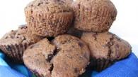 Goda muffins med mycket smak av choklad, både kakao och chokladbitar