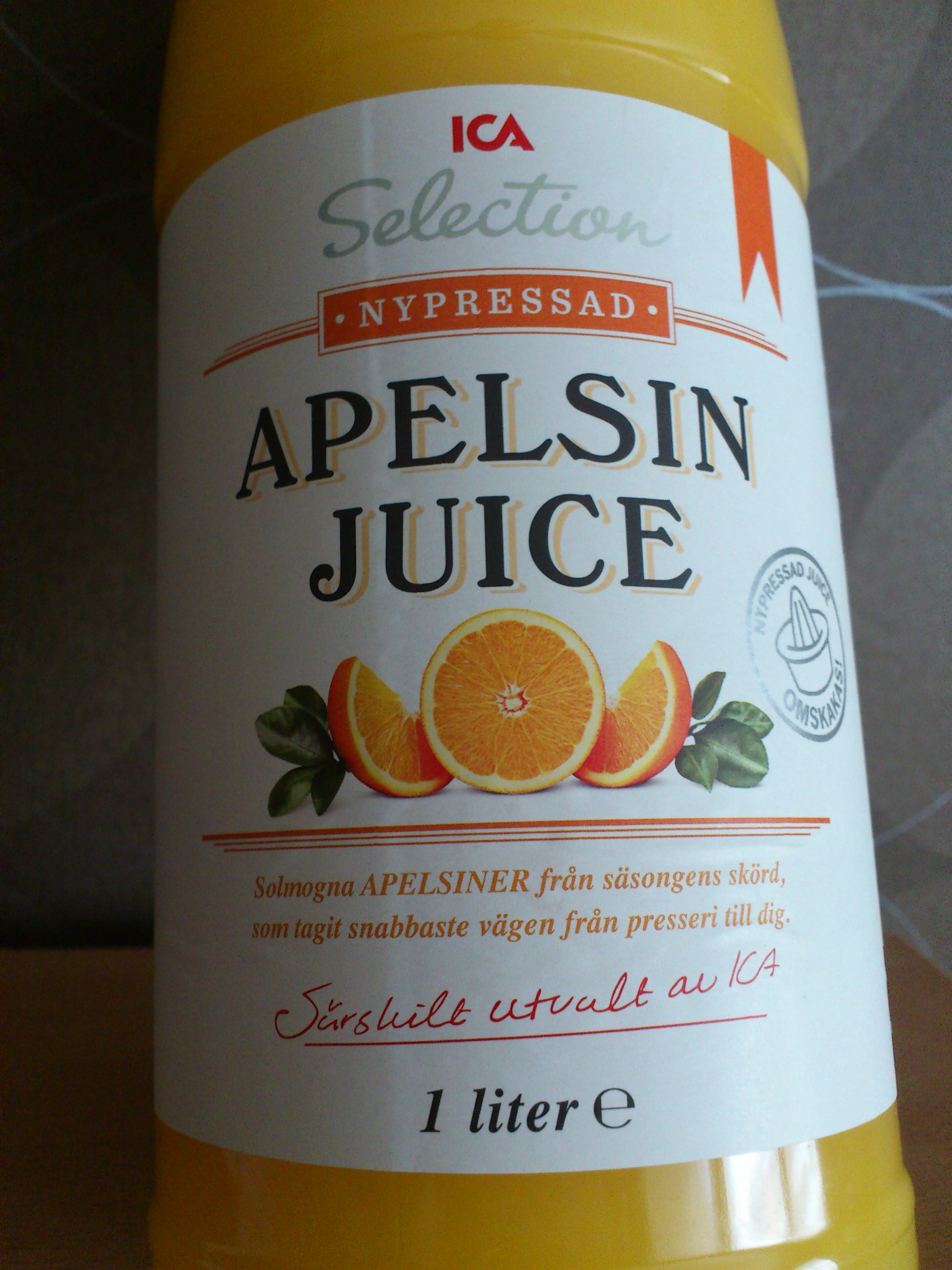 ica selection apelsinjuice