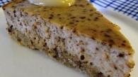 Cheesecake med citron och lakrits. En perfekt kombination som blandas i fyllning.