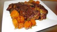 Högrev är billigt och gott, ett utmärkt smakrikt kokkött. Här tillsammans med morötter och lök som får gå länge i Crock-Pot