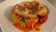 Kycklingfilé med morötter, purjolök, ingefära och vitlök. Kryddad med spiskummin och koriander.